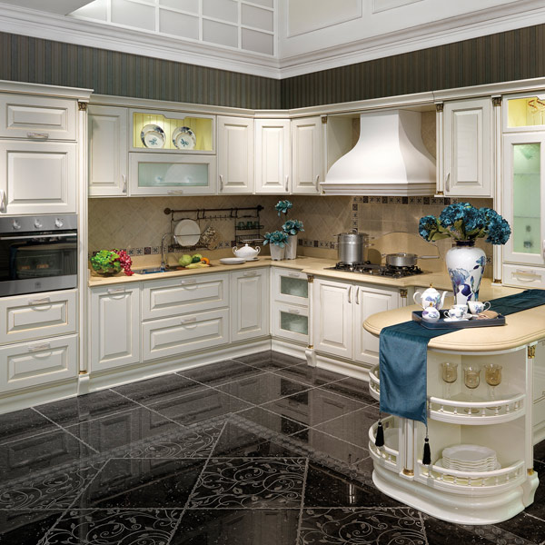 2014 OPPEIN Flashing Lacquer Kitchen Cabinet Guangzhou New Design Image