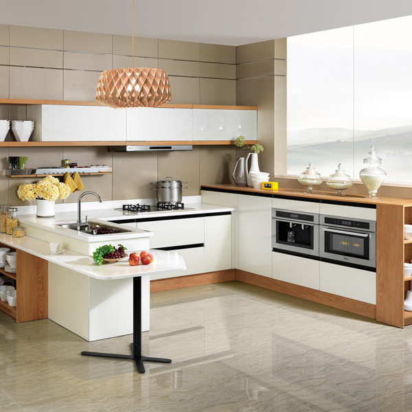 2014 New Arrival OPPEIN PVC Laminate Kitchen Cabinet in Guangzhou Image