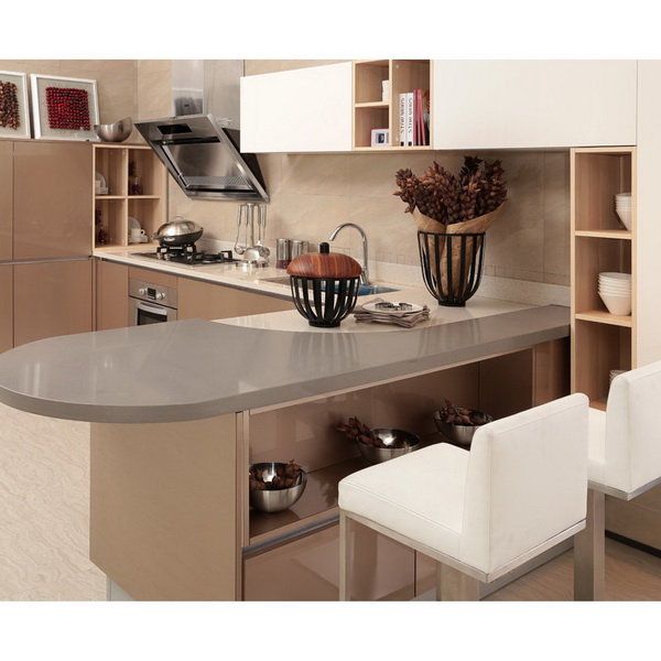 2014 Acrylic Kitchen Cabinet OPPEIN New Home Furniture Image