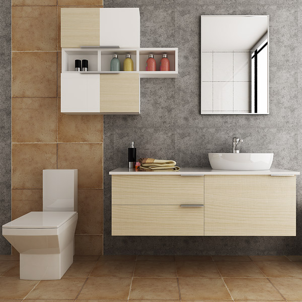 Australia Project Luxury Design PVC Bathroom Cabinets Image