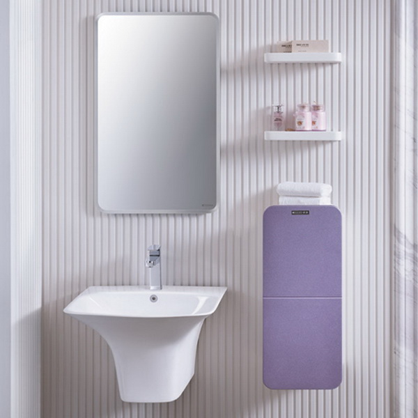 2015 Purple Shiny Lacquer Bathroom Vanity Cabinet No Top No Base Cabinet Image