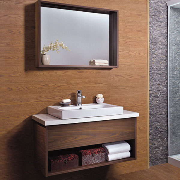 2015 the best walnut wood bathroom vanity cabinet from china image