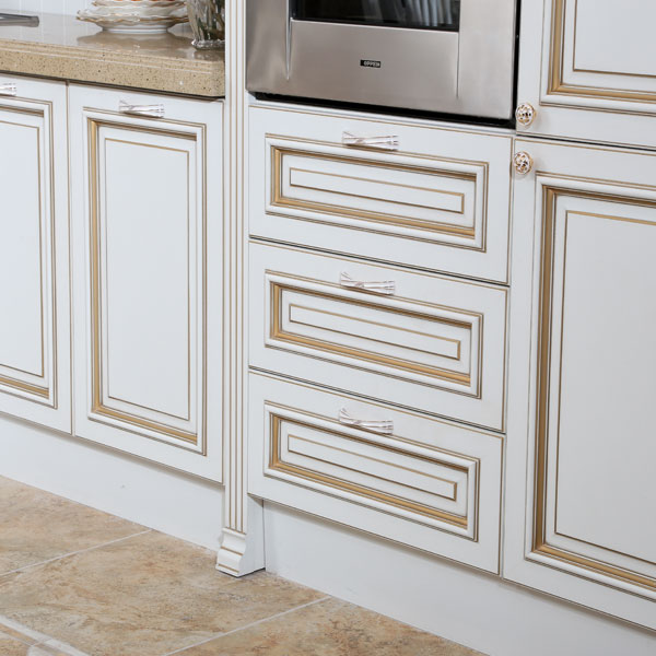 OP13-264: Classic Thermofoil Modular Kitchen Cabinet Image